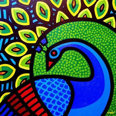 Peacock Viii Art Print by John  Nolan