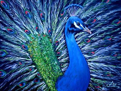 Peacocking Art Print by Chris Law