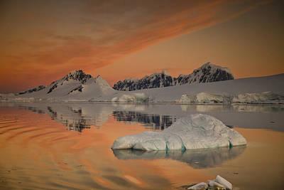 Peaks At Sunset Wiencke Island Art Print by Colin Monteath