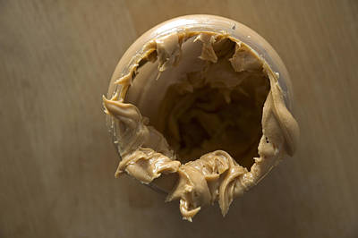 Photograph - Peanut Butter - Empty Glass by Matthias Hauser