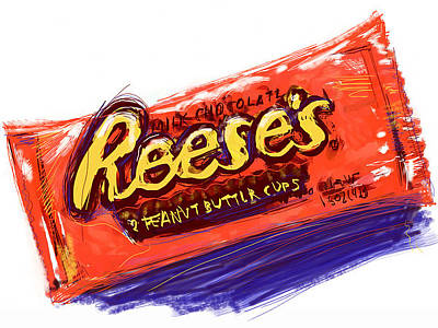 Mixed Media - Peanut Buttery Goodness by Russell Pierce