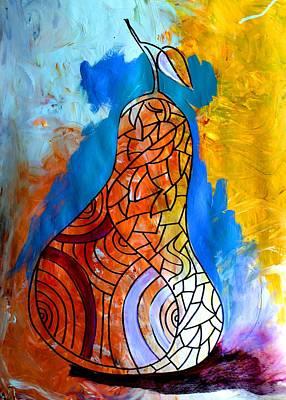 By Artist Singh Painting - Pear by Artist Singh