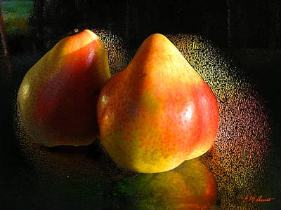 Pear Aura Art Print by Michael Durst