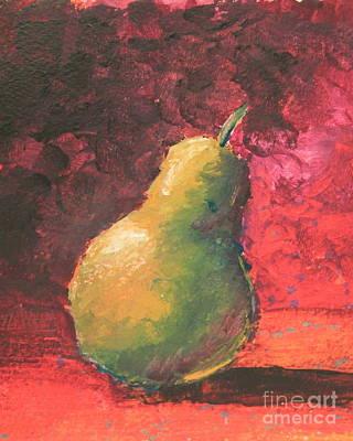Pear Left Print by Ann Sokolovich