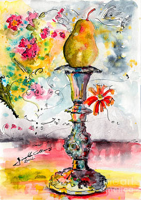 Pear On Candle Stick Art Print