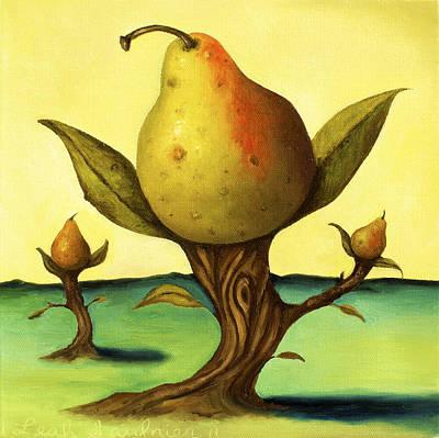 Pear Trees 2 Art Print by Leah Saulnier The Painting Maniac