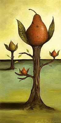 Pear Tree Painting - Pear Trees by Leah Saulnier The Painting Maniac