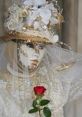 Photograph - Pearl Bride With Rose 2 by Donna Corless
