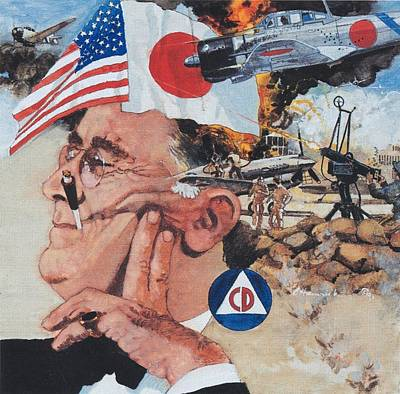 Franklin Delano Roosevelt Painting - Pearl Harbor by Chuck Hamrick