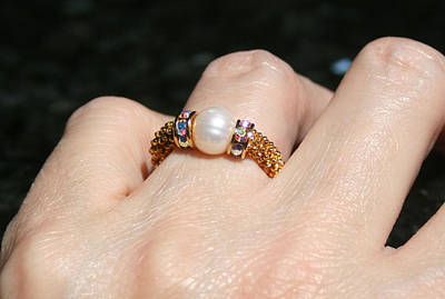 Adjustable Ring Jewelry - Pearl Ring by Caroline King