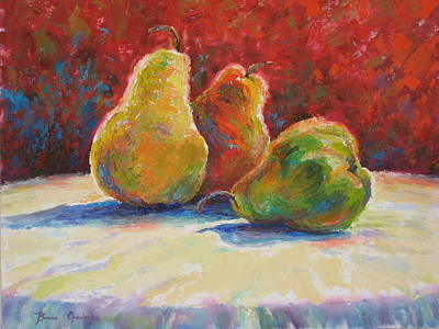 Art Print featuring the painting Pears by Bonnie Goedecke