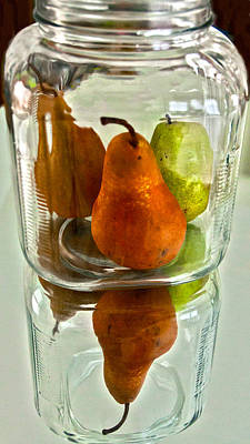 Pears In A Jar Art Print