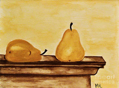 Pears On The Mantle Art Print