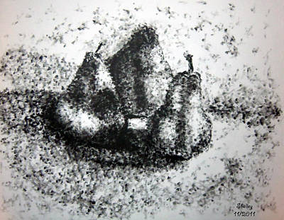 Drawing - Pears by Shelley Bain