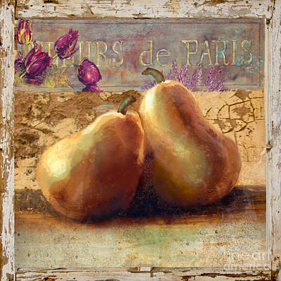 Pears Still Life Art Print by Betty LaRue