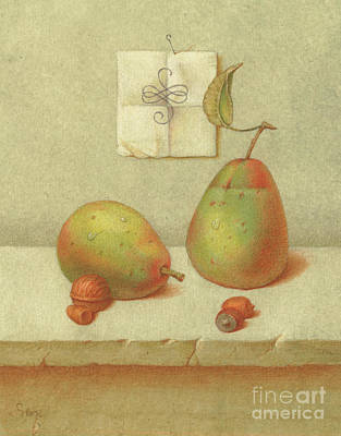 Painting - Pears by Victor Sap