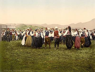 Slavic Photograph - Peasants Dancing, Bosnia by Everett