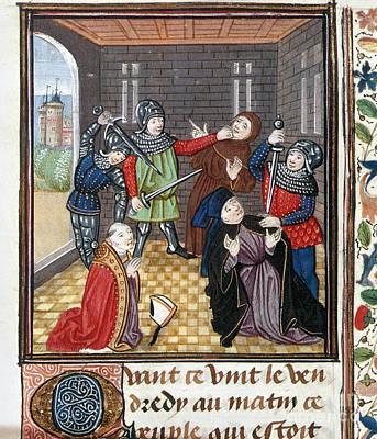 Photograph - Peasants Revolt, 1381 by Granger