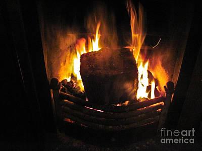 Peat Fire Art Print by Black Sun Forge