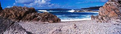 Pebble Beach,inishowen, View Of Malin Art Print by The Irish Image Collection