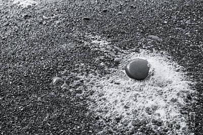 Pebble On Foam Art Print