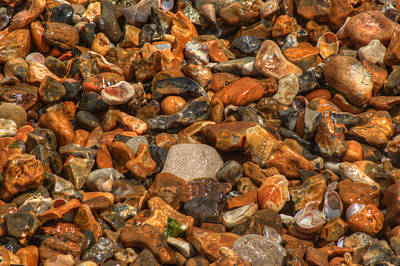 Photograph - Pebbles And Stones On The Beach by Chris Day