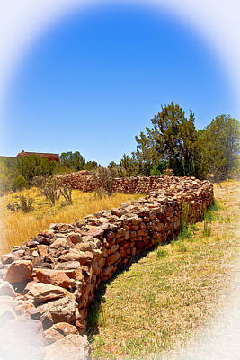 Photograph - Pecos Pueblo Wall by Bill Barber