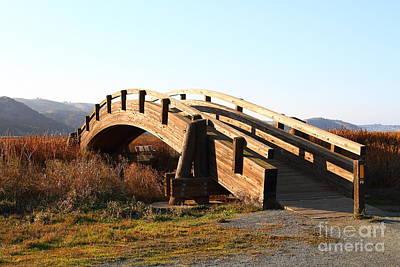 Photograph - Pedestrian Bridge At Martinez Regional Shoreline Park In Martinez California . 7d10506 by Wingsdomain Art and Photography