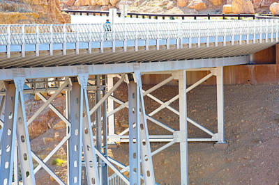 Photograph - Pedestrian On New Navajo Bridge by Julie Niemela
