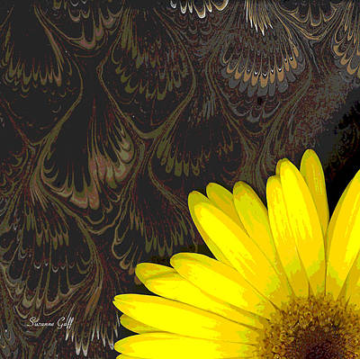 Floral Digital Art Digital Art Digital Art - Peek A Boo Gerbera by Suzanne Gaff