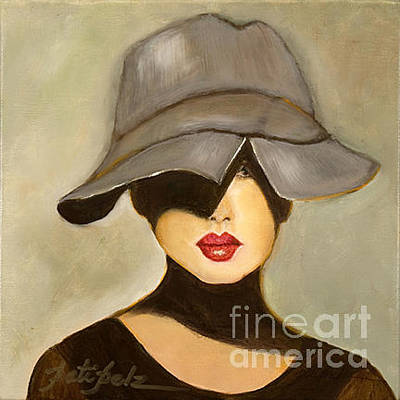 Painting - Peekaboo Hat by Pati Pelz