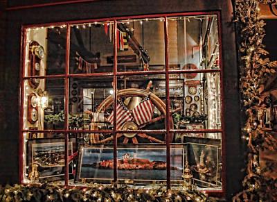 Us Flag Photograph - Peeking Through Time by Joann Vitali