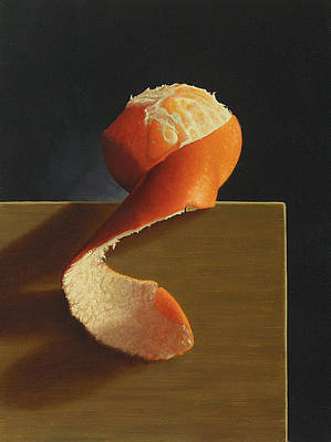 Tangerine Painting - Peeled 2 by Paul Coventry-Brown