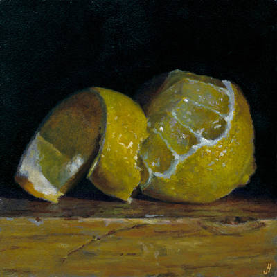 Peeled Lemon Art Print by Jeffrey Hayes