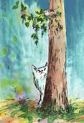 Painting - Peeping Tom by Miki De Goodaboom