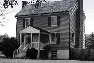 Peers House Appomattox County Court House Virginia Print by Teresa Mucha