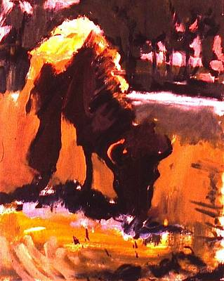 Painting - Peg Leg Buffalo by Les Leffingwell