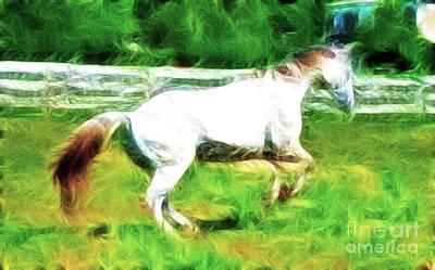 Pegasus Impression Print by Paul Ward