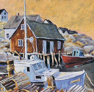 Peggy S Cove 01 By Prankearts Art Print by Richard T Pranke