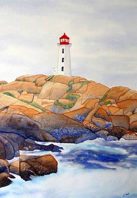 Peggy's Cove Art Print by Laurel Best