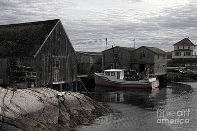 Photograph - Peggy's Cove Litho by Tom Griffithe