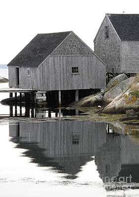 Art Print featuring the photograph Peggy's Cove Sheds by Louise Peardon