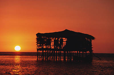 Jamaican Sunset Photograph - Pelican Bar At Sunset by Axiom Photographic
