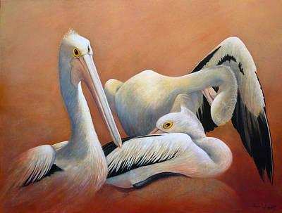Painting - Pelican Brief by Paula Wiegmink