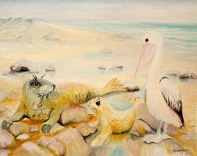 Pelican Muse Art Print