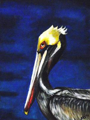 Pelican Portrait Art Print by Kim Selig