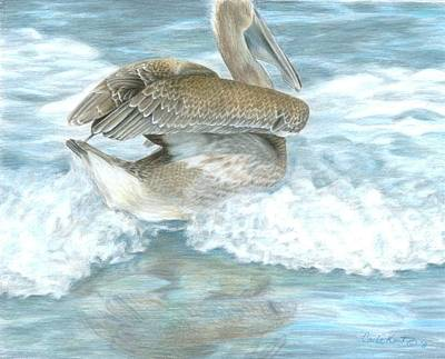 Painting - Pelican Surf by Carla Kurt