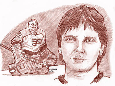 Drawing - Pelle Lindbergh by Chris  DelVecchio