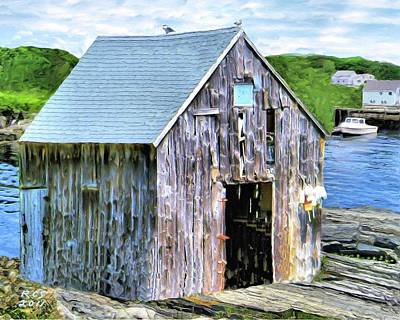 Digital Art - Pemaquid Fish House by Richard Stevens