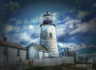 Lighthouse Photograph - Pemaquid Lighthouse by Arnie Goldstein